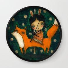 Riding My Fox Wall Clock