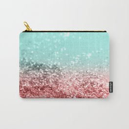 Summer Vibes Glitter #5 #coral #mint #shiny #decor #art #society6 Carry-All Pouch