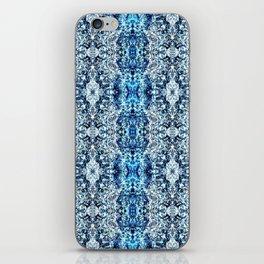 Beautiful Blue Foklore Damask Pattern iPhone Skin