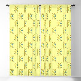 Modern Pop Art Yellowbird Blackout Curtain