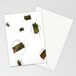 moss sections (nomads) Stationery Cards