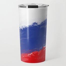 Russia's Flag Design Travel Mug