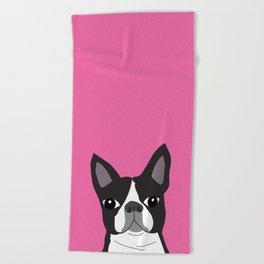 Boston Terrier Lilly Beach Towel