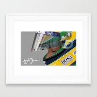senna Framed Art Prints featuring Senna Meditation by Borja Sanz