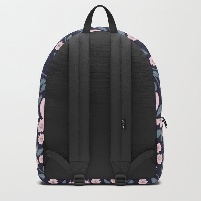 Little Flowers on Blue Backpack