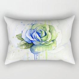 Flower Rose Watercolor Painting 12th Man Art Rectangular Pillow