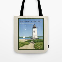 Martha's Vineyard Edgartown Lighthouse Tote Bag