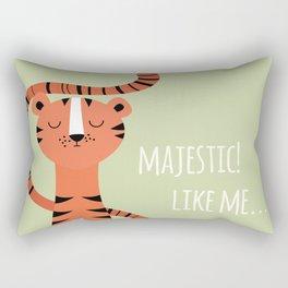 Tiger card - majestic like me Rectangular Pillow