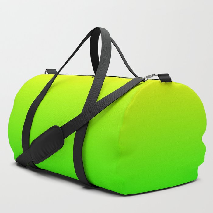 66a435c49758 Neon Yellow Green Ombre Duffle Bag by lyle58