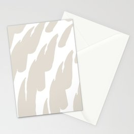 Neutral Abstract Brush Marks Stationery Cards