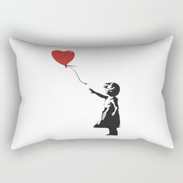 Girl with Balloon - Banksy Graffiti Rectangular Pillow
