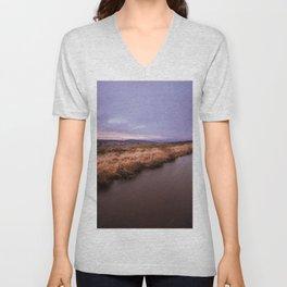 Sunset river Unisex V-Neck