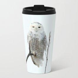 Snowy in the Wind (Snowy Owl) Travel Mug