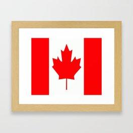 Flag of Canada Framed Art Print