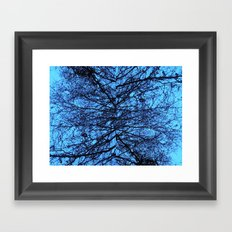 Blue Veins Framed Art Print