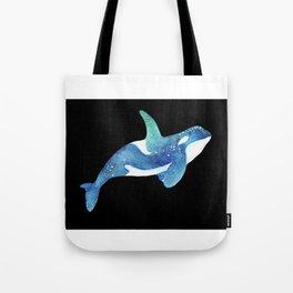 Blue Whale, Watercolor Whale, Sea life Art ,Wild life Art Tote Bag