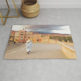 Moroccan Life Oil Painting Rug