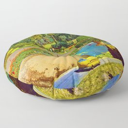 Gardens of Pluto Floor Pillow
