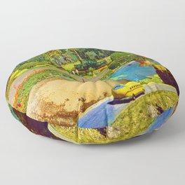 Gardens of Pluto Floor Pillow