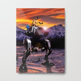 Spring Break on the Ice Planet Hoth Metal Print