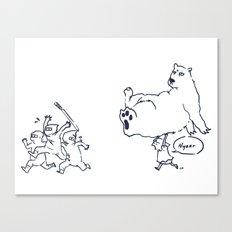 a dose of polar bear Canvas Print