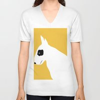 bull V-neck T-shirts featuring - BULL - by TWELVE TWELVE