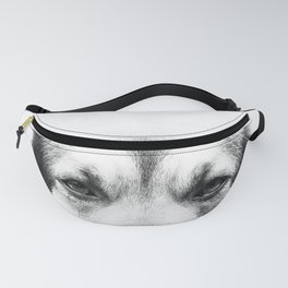 Dog portrait in black & white Fanny Pack