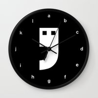 writer Wall Clocks featuring THE WRITER by THE USUAL DESIGNERS