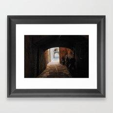 Italian Alleyway Framed Art Print