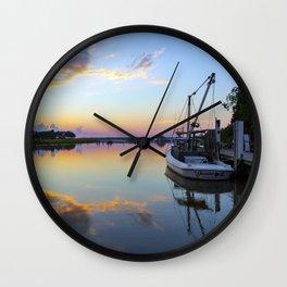 Sunset on Jones Creek II Wall Clock