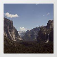 yosemite Canvas Prints featuring Yosemite by Jeff Harmon Photography