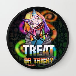 Candy Monster - Drawlloween2018 Wall Clock