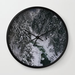 Winter in Vermont Wall Clock
