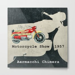 Motorcycle Show  1957 Metal Print