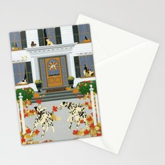 Autumn leaf game Stationery Cards