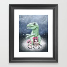 Kimmy and Rex Framed Art Print