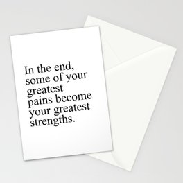 In the end... Stationery Cards