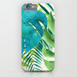 Rainforest Canopy Tropical Leaves iPhone Case