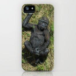 Sunbathing Gorilla Baby Shufai iPhone Case