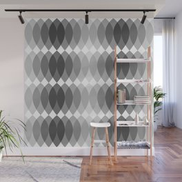 GRAY I LEAVES BY SUBGRL Wall Mural