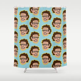 Jeff Goldblum Illustration Face Pattern Shower Curtain