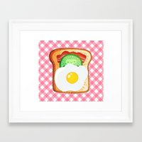novelty Framed Art Prints featuring Good morning by Anna Alekseeva kostolom3000