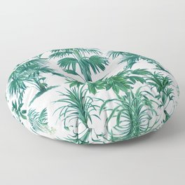 Exotic Tropical Palm Print Floor Pillow