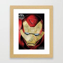 Avengers Reflection Framed Art Print