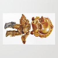 c3po Area & Throw Rugs featuring C3PO by oRen