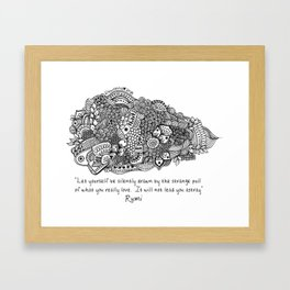 The world of Rumi - Follow what you Love Framed Art Print
