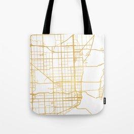 MIAMI FLORIDA CITY STREET MAP ART Tote Bag