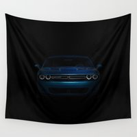 muscle Wall Tapestries featuring American Muscle by Devereaux Arts
