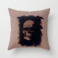 anatomy Throw Pillows featuring Anatomy by Notwhatnot