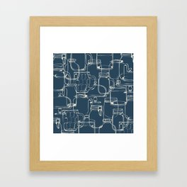 glass containers Framed Art Print